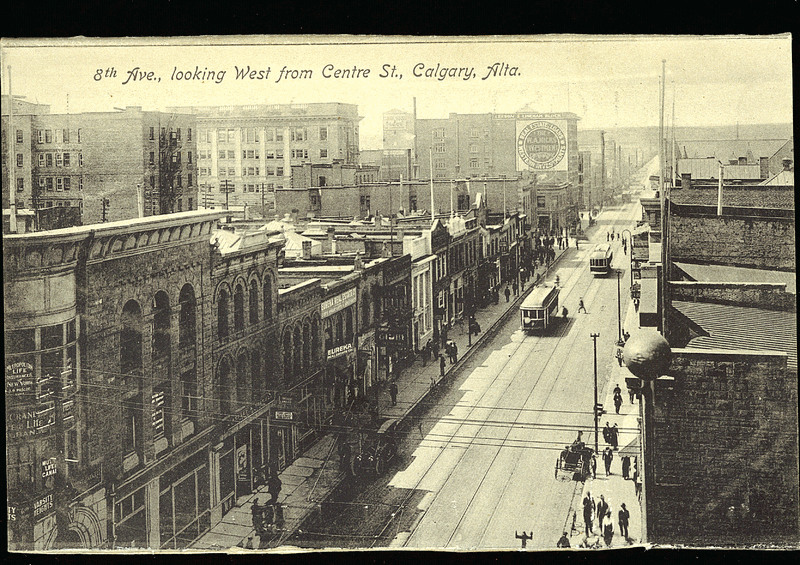 historical photo of calgary stephen avenue looking west