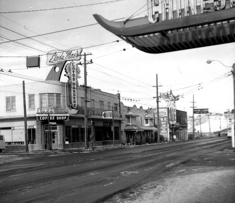 Centre street chinatown historical photo of calgary 1960s
