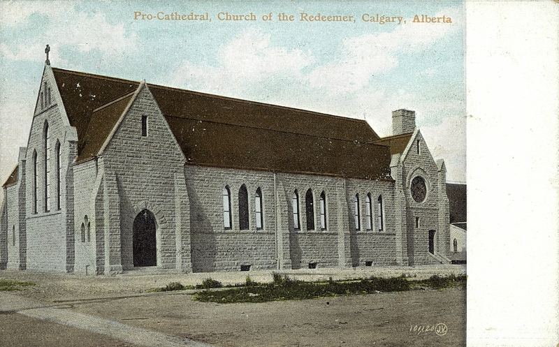 historical photo of calgary church of the redeemer