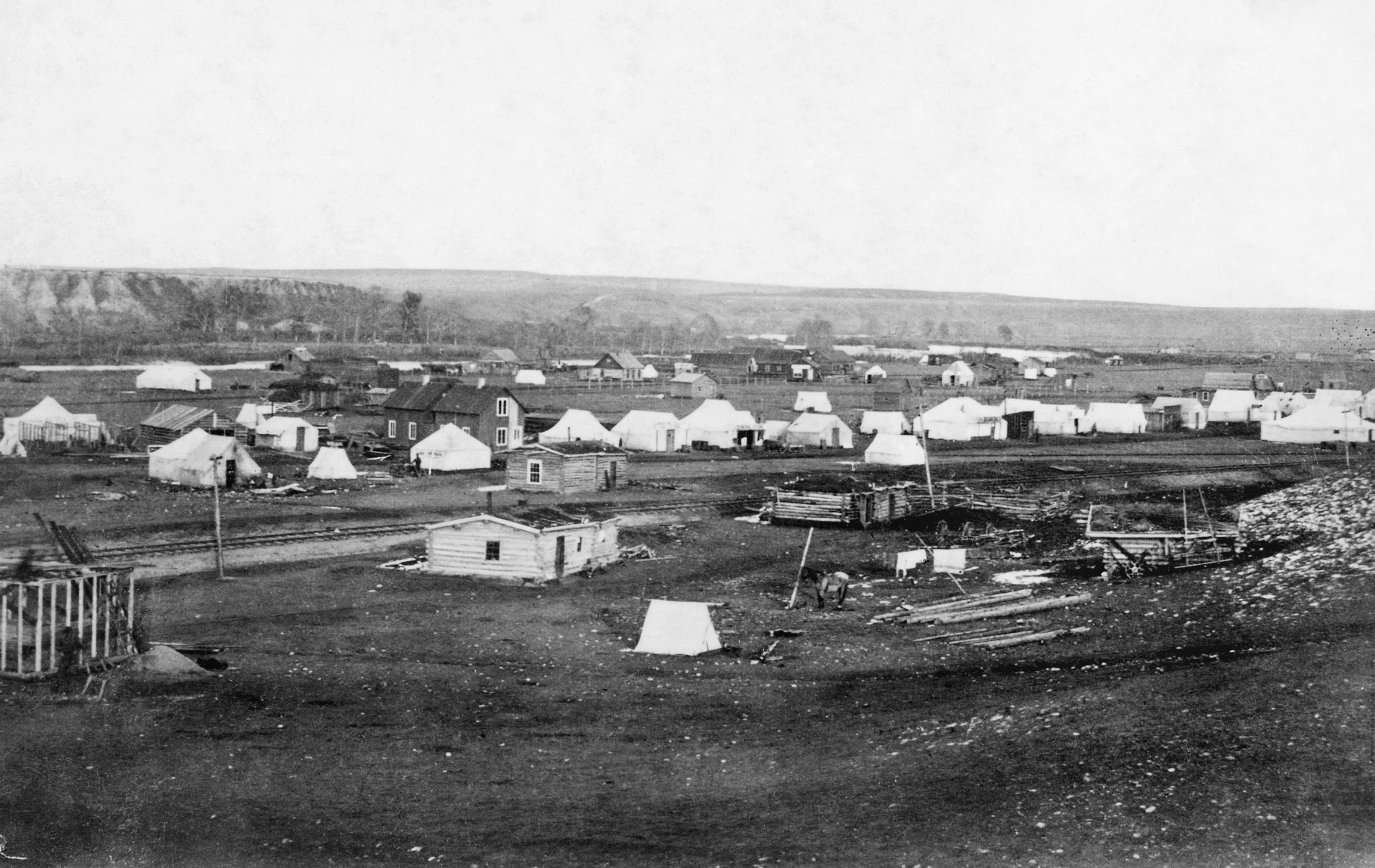 1883 tent town downtown calgary historical picture