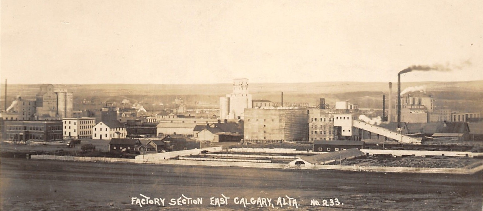historical photo of Calgary east factory area