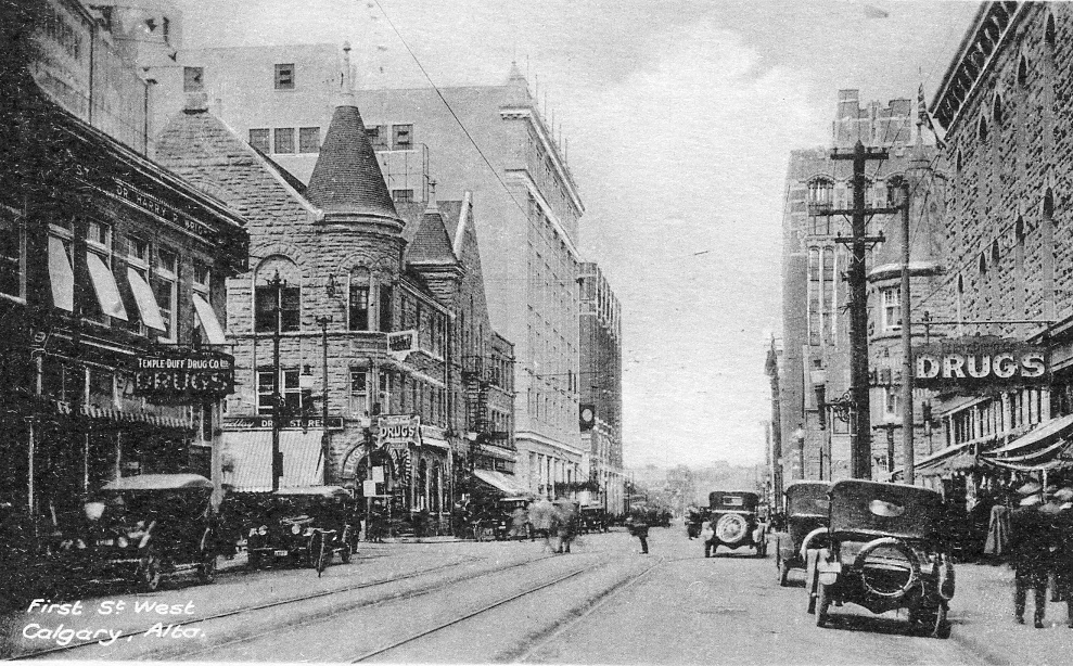 first street west historical photo calgary alberta