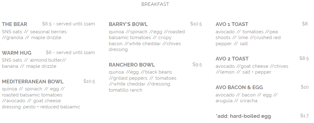 seed n salt breakfast menu april 2019