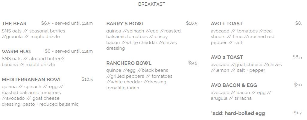 seed n salt breakfast menu april 2019