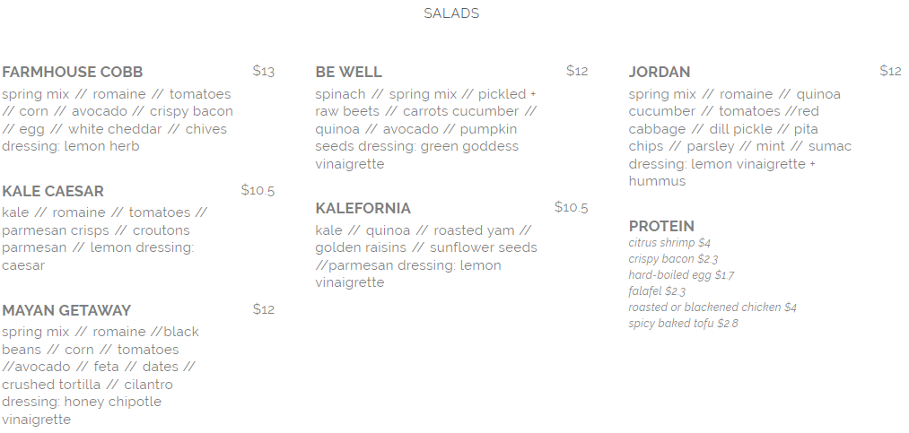 seed n salt salad menu april 2019