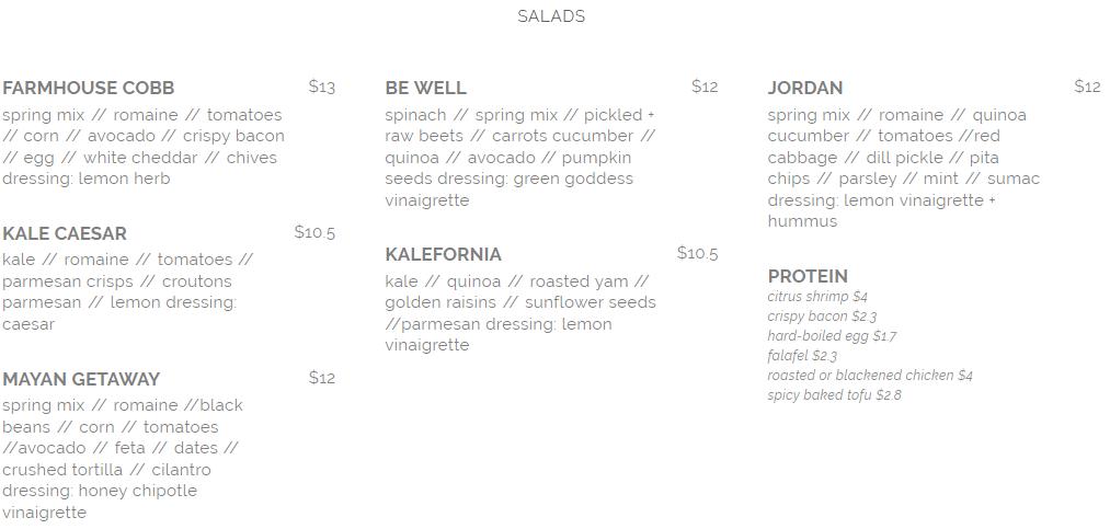 seed n salt salad menu april 2019