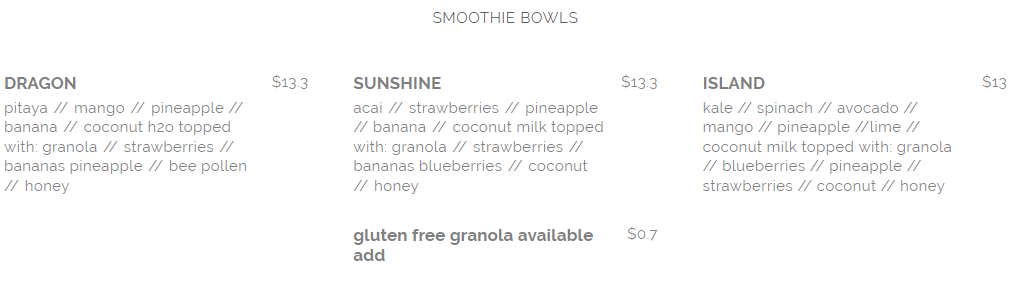 seed and salt smoothie bowl menu april 2019