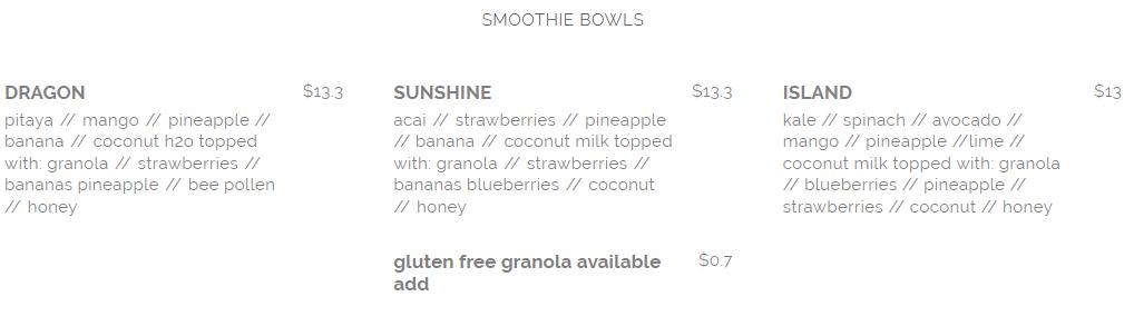 seed and salt smoothie bowl menu april 2019