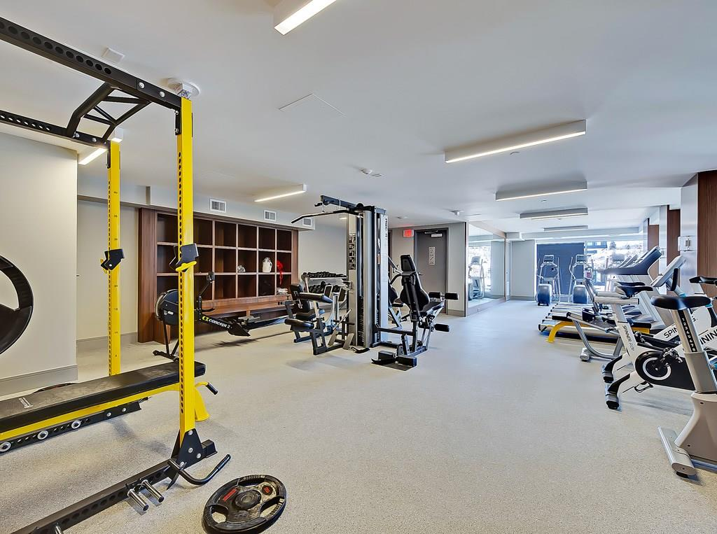 parkside waterfront condo workout room bestcalgaryhomes.com