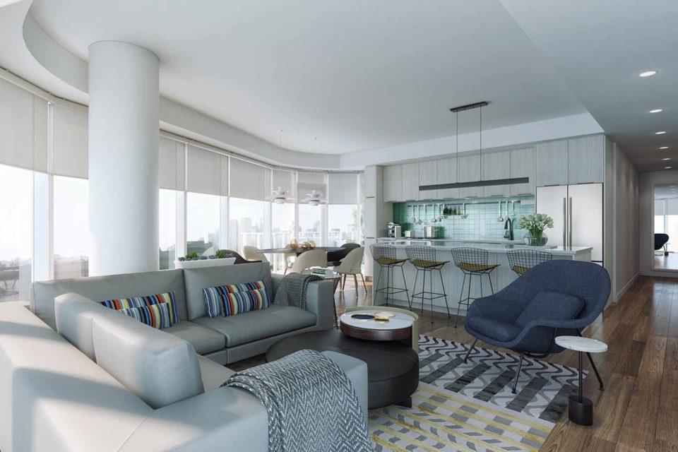 THE THEODORE new condos interior design