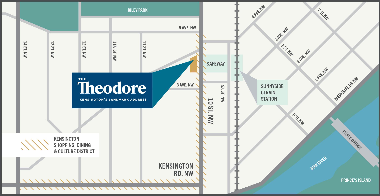area map theodore condos kensington